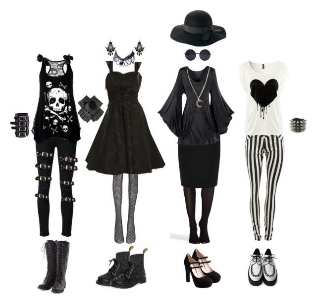 """""""Nu Goth #3"""" by queenstormrider ❤ liked on Polyvore featuring Paige Denim, Poizen Industries, SPANX, Wolford, Warehouse, Miu Miu, Retrò, Alkemie, claire's and vintage"""
