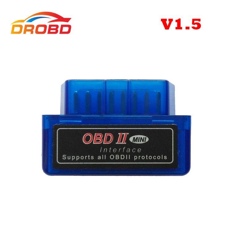 A + Kualitas Versi Baru Alat Diagnostik Code Reader ELM327 V1.5 V 1.5 Bluetooth ELM 327 OBD2 OBD-II Super Mini ELM327 scanner