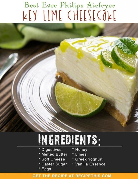 Airfryer Recipes | Best Ever Philips Airfryer Key Lime Cheesecake recipe from RecipeThis.com