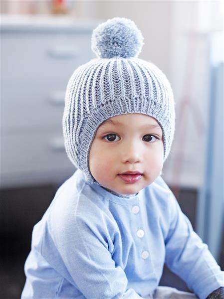 1508: Design 16 Lue i patentstrikk #strikk #knit #merino