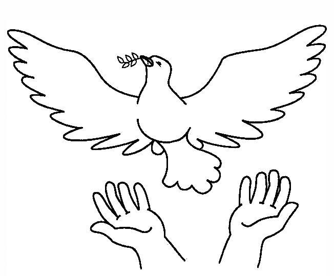 vredesduif kleurplaat