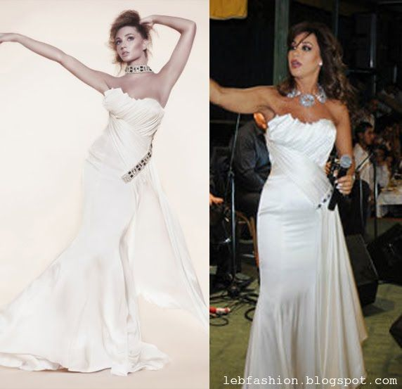 Najwa Karam in a white TONY YAACOUB #dress #fashion #design #celebrities #lebanon #lebanese #gown #tonyyaacoub