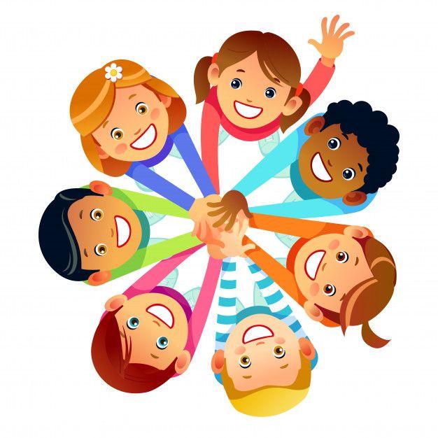 Amigos De Criancas De Todo O Mundo Em Suas Maos Amizade Multinacional De Filhos De Amigos Do Mundo Ilustracao Em Vetor De Estoque Dos Desenhos Animados Isolad Kids Clipart Cartoon Kids
