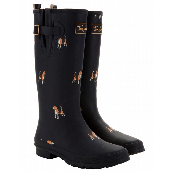 Joules Marine Navy Women's Printed Welly Rain Boots. $71.99