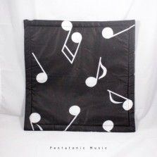 Notes Black Cushion Cover