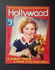 HOLLYWOOD Magazine June 1936 Shirley Temple MARGARET SULLAVAN JOAN CRAWFORD