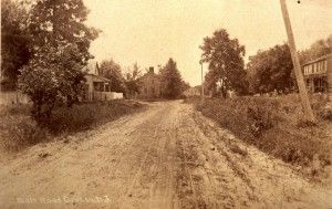 Croton, NJ. View looking west on Old Croton Road.