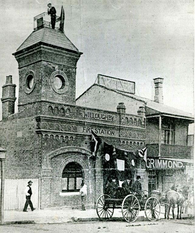 The official opening of the Chatswood Fire Station in the Upper North Shore of Sydney in 1900.