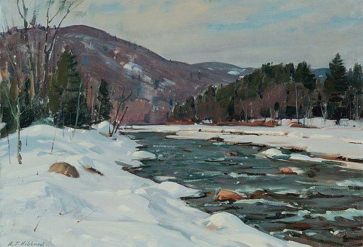 """""""Vermont Snow,"""" Aldro Thompson Hibbard, oil on board, 17 1/2 x 25 1/2"""", private collection."""