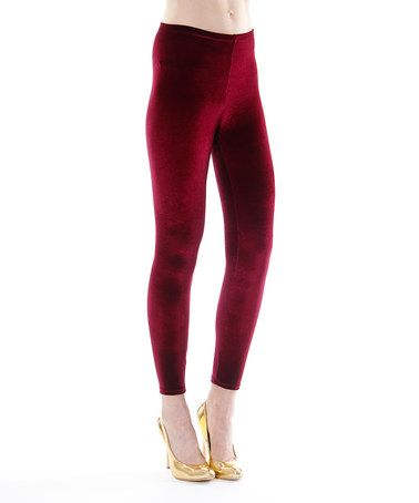 Another great find on #zulily! Wine Rosa Leggings #zulilyfinds