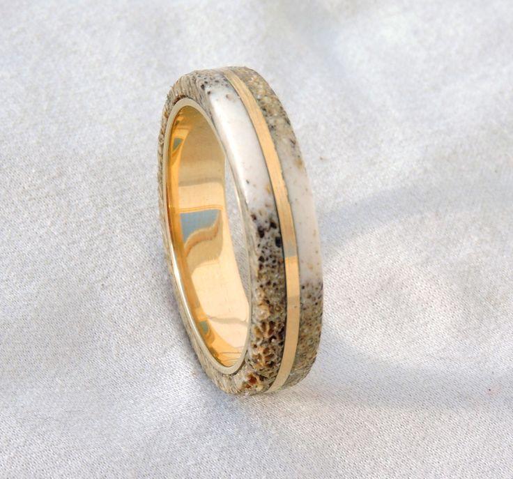 Awesome Bronze Ring Deer Antler Ring Ring Armor by JJwoodenartdesign on Etsy https