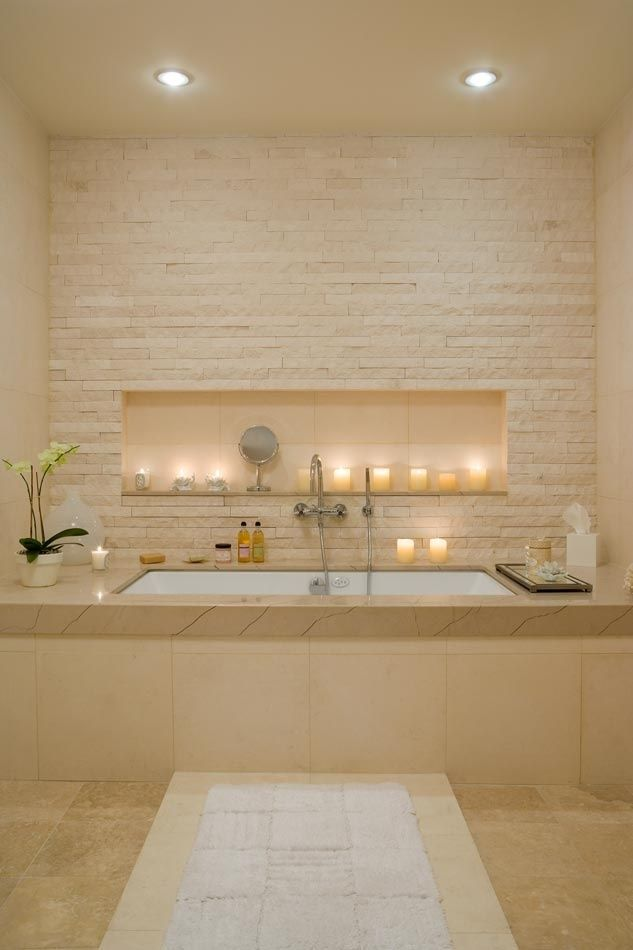 The pale stone bath