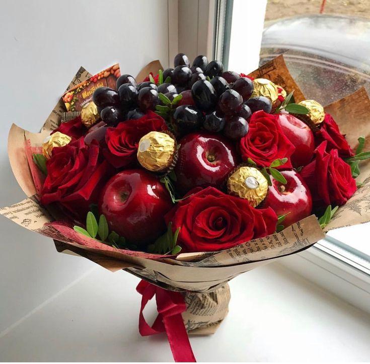 Картинки букетов из фруктов и конфет, мобилу прикольные смешные