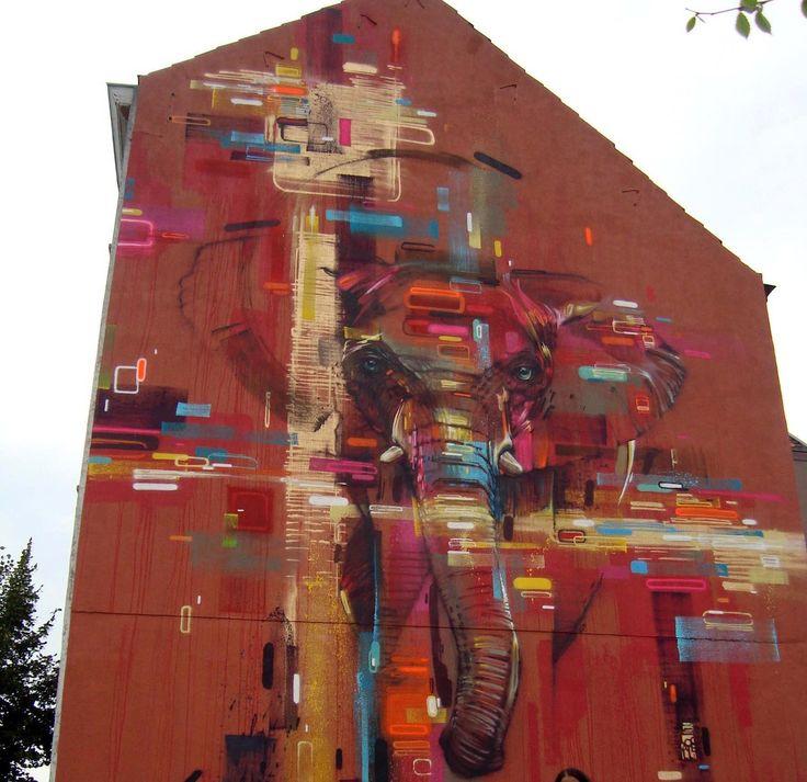Street Art by Steve Locatelli in Brussels, Belgium