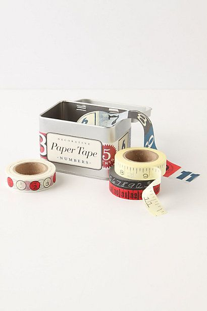 Numbers Paper Tape @ anthropologie