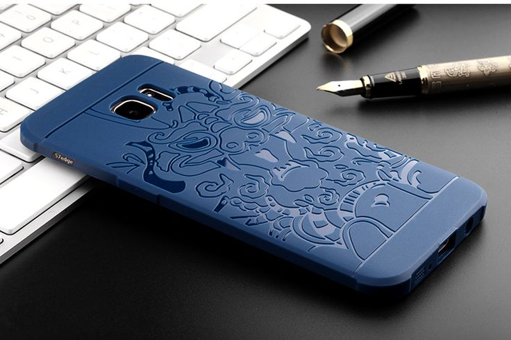 3D Dragon Pattern Fall-resistant Shockproof Silicone Cover Case for Samsung Galaxy S7 Edge