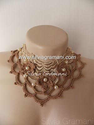 colar, feminino, colar de renda, croche, colar de renda e croche, flor de croche, acessorio feminino
