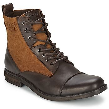 These two tone men's ankle boots from Levis have classy urban style for this Autumn/Winter #shoes #boots #ankleboots #mens #fashion #levis #leather