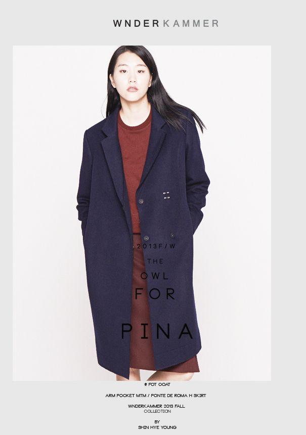 wnderkammer#fit coat#navy coat#wool coat# www.wnderkammer.com