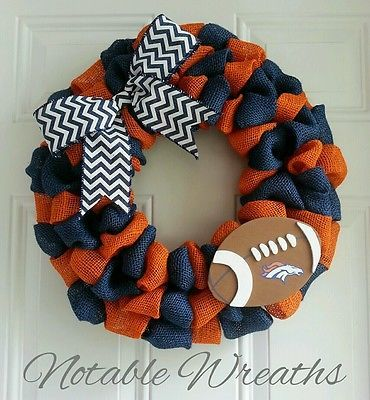 Denver Broncos Wreath NFL wreath team wreath football wreath fall wreath