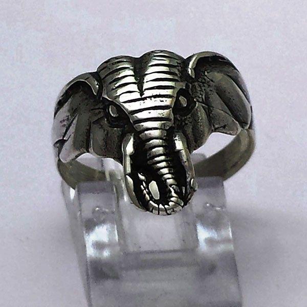 Anello testa elefante