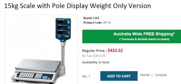 Best deals on 15kg Scale with Pole Display Weight Only Version at OnlyPOS based in Sydney. We offer FREE Shipping on all products across Australia..!  http://www.onlypos.com.au/cas-ap1-15kg-weight-only-version