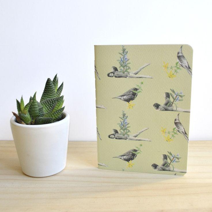 Libreta / Notebook Romero A6 by Tijeras y Poemas (Ana Lorente).  #collage #notebook #tijerasypoemas #patterncollage