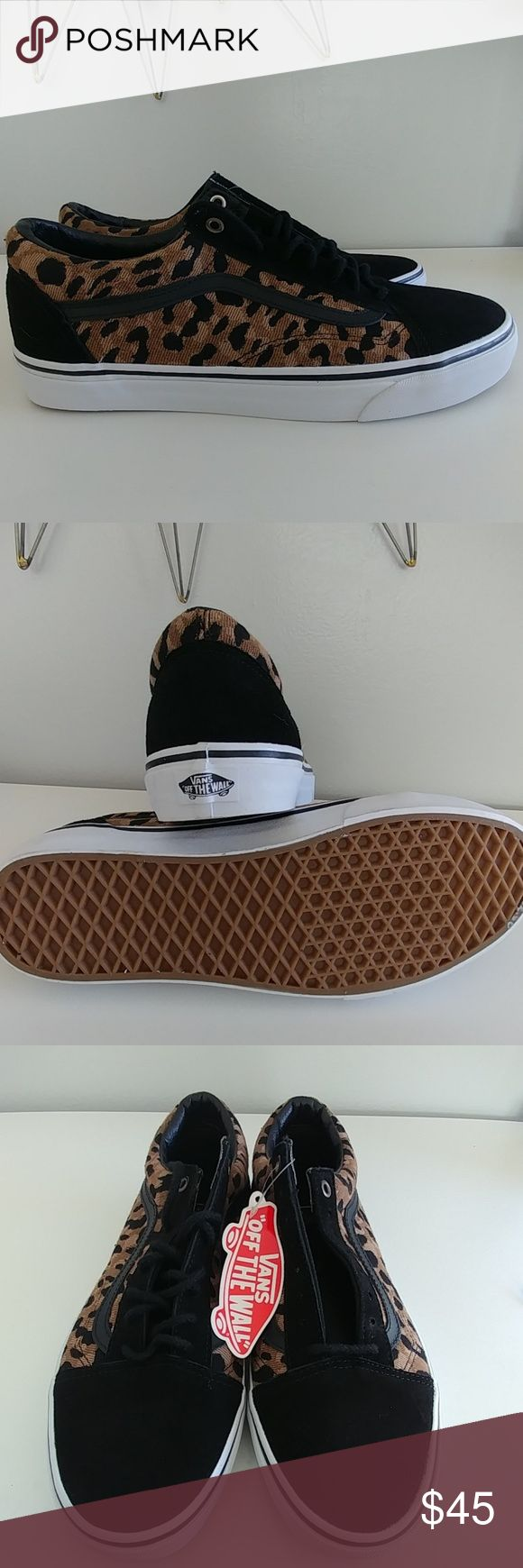 Vans Old Skool Skate Leopard Vans Old Skool Authentic Skate Leopard Shoes. New no box. May have an unnoticeable scuff or 2 from not being in a box. Sweet shoes. Priced to sell. Vans Shoes Athletic Shoes