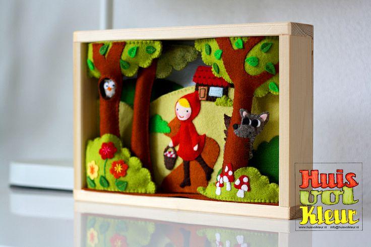 DIY pakket Roodkapje van huisvolkleur op DaWanda.com