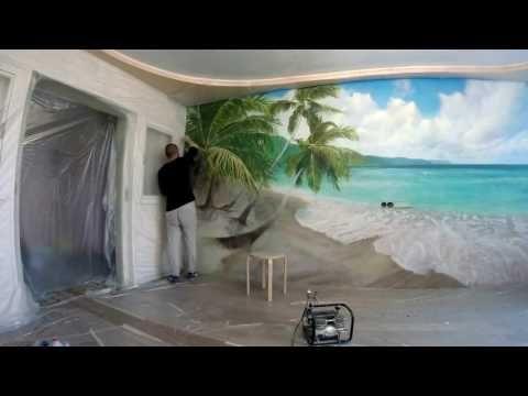 Художественная роспись,аэрография в интерьере,рисования на стене   моря,...