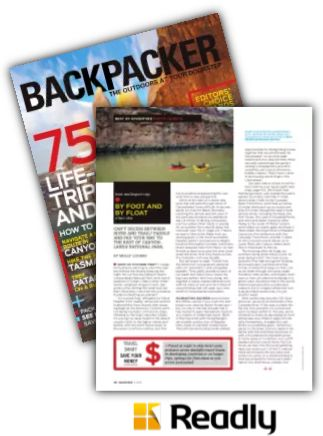Suggestion about Backpacker November 2013 page 42