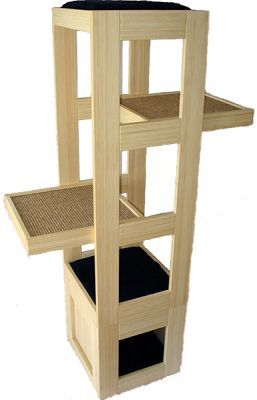 this fun ecofriendly cat towers is both green and modern made from solid bamboo the trendycat towercomes in eithr continue