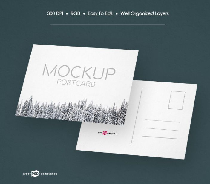 50 Free And Premium Postcard Mockups For Your Projects Onedesblog Postcard Mockup Postcard Design Mockup Free Psd