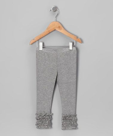 Another great find on #zulily! Light Gray Ruffle Leggings - Toddler & Girls by KoKo #zulilyfinds