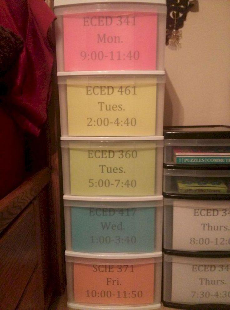 Genius dorm room organization ideas (31