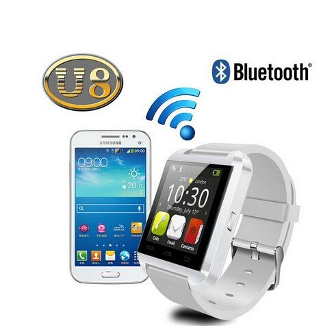 Best to Buy Smart Bluetooth Watch MTK WristWatch Watches U8 U Watch for iPhone 4/4S/5/5S/6/6 plus, Samsung S4/Note 2/3 Android Phone smartphones (white). Bluetooth Smart Watch WristWatch Watches U8 U Watch for iPhone 4/4S/5/5S Samsung S4/Note 2/Note 3 HTC Android Phone Smartphones. This is a new Bluetooth Smart U Watch which is compatible with all Bluetooth V2.0 or above enabled smartphones, tablets and PCs (support Android 2.3 or above),such as iPhone 4, 4S, 5, 5S,6,6s,6 plus, Sumsung S3...