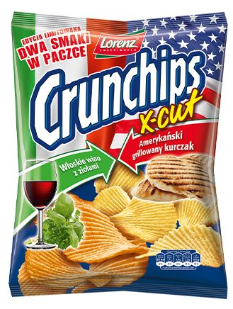 Crunchips X-Cut Edycja Limitowana: Włoskie wino z ziołami i Amerykański grillowany kurczak - prawdziwie wymieszane smaki ;) #Crunchips #XCut #LimitedEdition #mixed #italian #wine #american #chicken