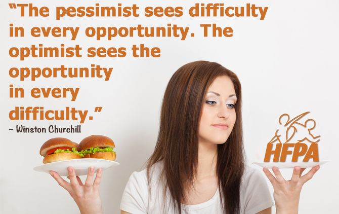 Are you the optimist or the pessimist?