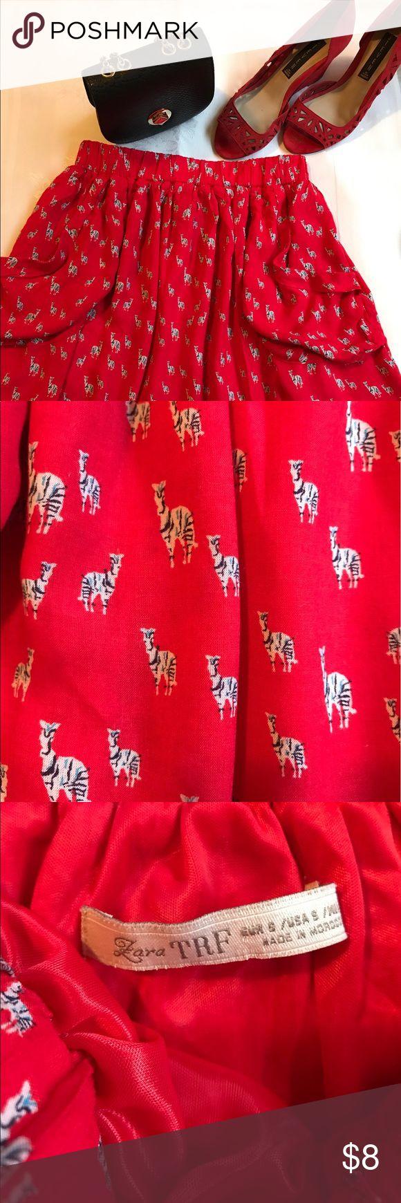 Zara skirt, size s, %100 viscose Excellent condition. So comfortable. Zara Skirts Midi