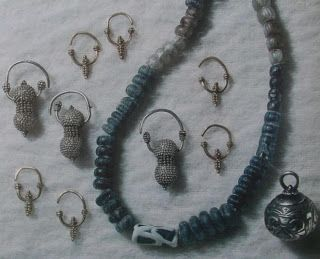 Jewelry from Ducové Castle, 9 - 10th century AD, Slovakia