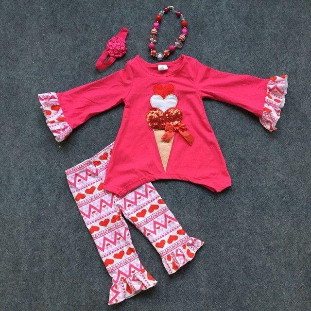 Preorder -Valentines embroidered Icecream aztec Set
