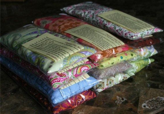Organic Flax Seed Herbal Eye Pillows.... these work for so many different ailments, every house should have them