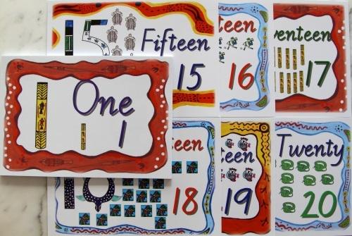 Australian Aboriginal Counting cards 1-20 www.artsortedworx.com.au