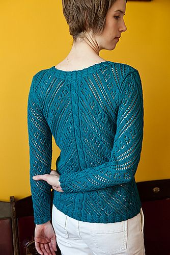 Ажурный пуловер спицами. Обсуждение на LiveInternet - Российский Сервис Онлайн-Дневников