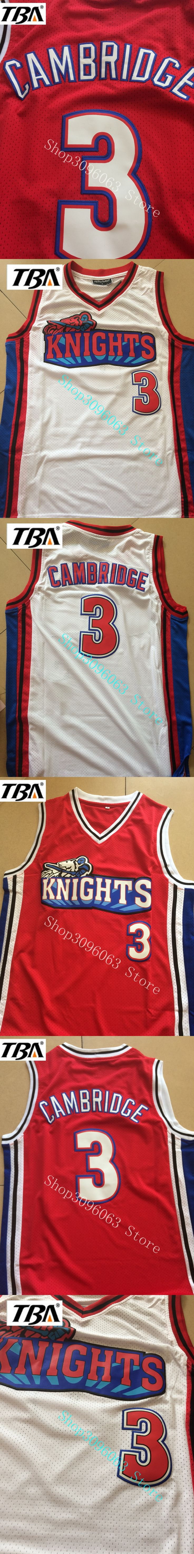 NEW Like Mike Movie Knights #3 Calvin Cambridge Throwback Basketball Jersey Embroidered Stitched White Free Shipping