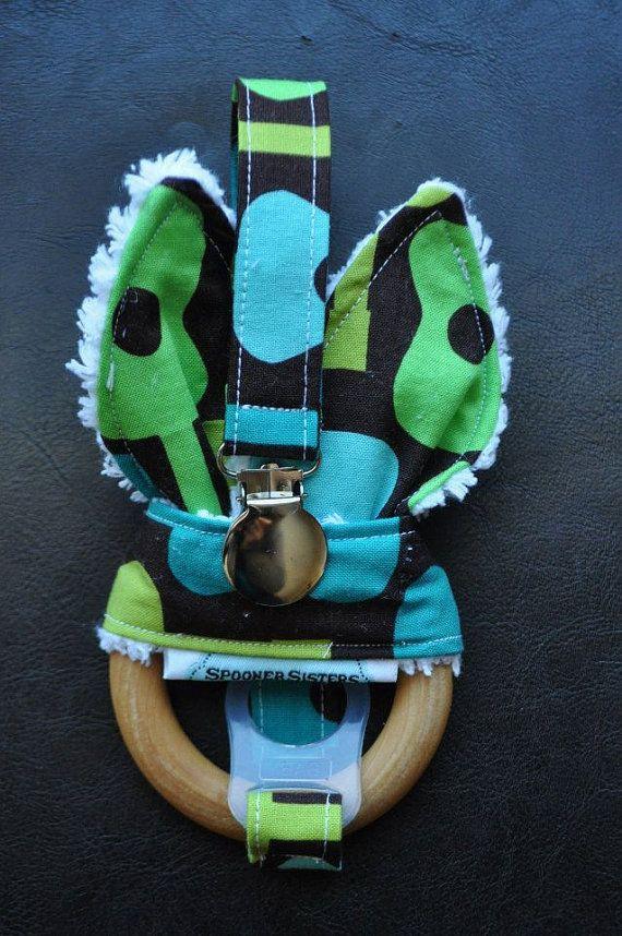 Groovy Guitar Wooden Organic Teething by SpoonerSistersDesign, $30.00