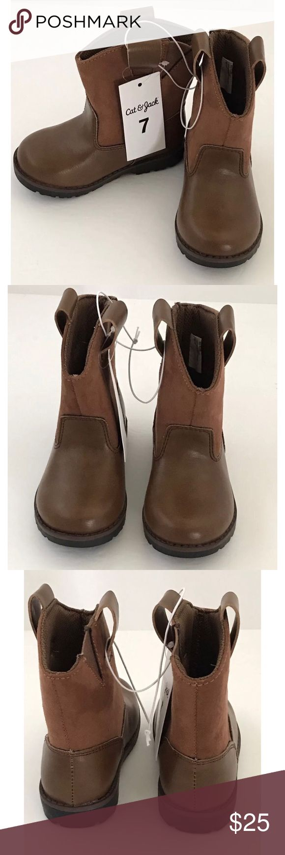 Cat & Jack Toddler Cowgirl/Cowboy Boots Cat & Jack Brown Style: Hunter Size 7 These boots are brand new. They have elastic on the inside for easy on & off access. Perfect for your little Cowgirl or Cowboy! Shoes Boots