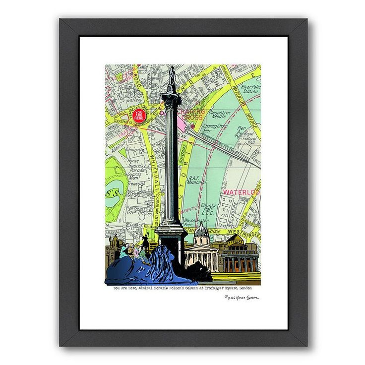 Americanflat Nelson's Column London Framed Wall Art, Multicolor