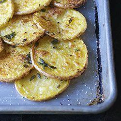 Patatas asadas al horno con hierbas