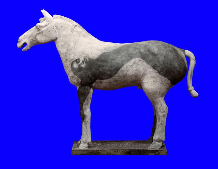 Omar Galliani Lontani da Xian, 2009 scultura in terracotta, cm 160x250x60